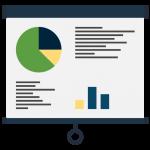 Icon of a presentation screen